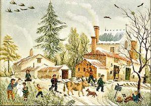 (39)-Le village sous la Neige