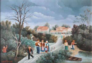 (288)- Sur le chemin du village