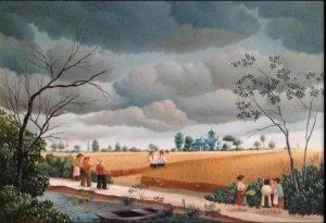 (331)- Champ de blé sous l'orage