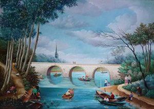 (383)- Le vieux Pont-hsb - 1978-33x46 cm.