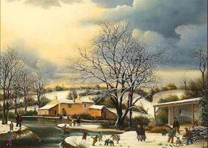 (436)-village des Coux-1980-33x46 cm
