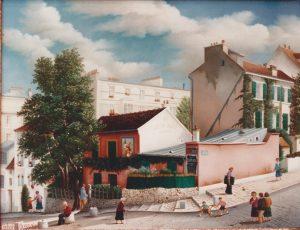 (626)-Paris-Le Lapin Agile-1987-hsb 27x35 cm.