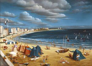 (640)- La Plage des Sables d'Olonne-1988-hsb 38x46 cm.