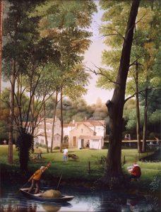 (646)-Dans le marais poitevin-1988-hsb 35x27 cm.