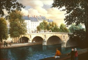 (653)-Paris-Pont Marie-1989-hsb 24x35 cm.