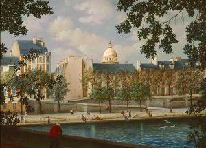(661)- H.V.Paris - La Coupole - La Seine-1989-hsb 33x46 cm.