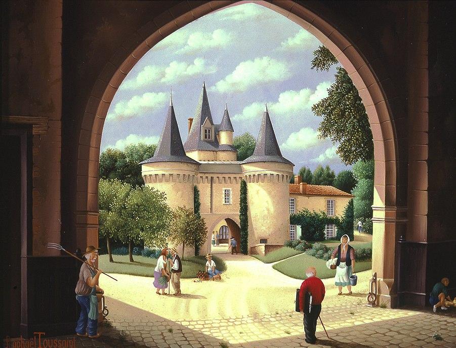 (733)- Le Château des Roches Baritaud-1994-hsb 27x35 cm.