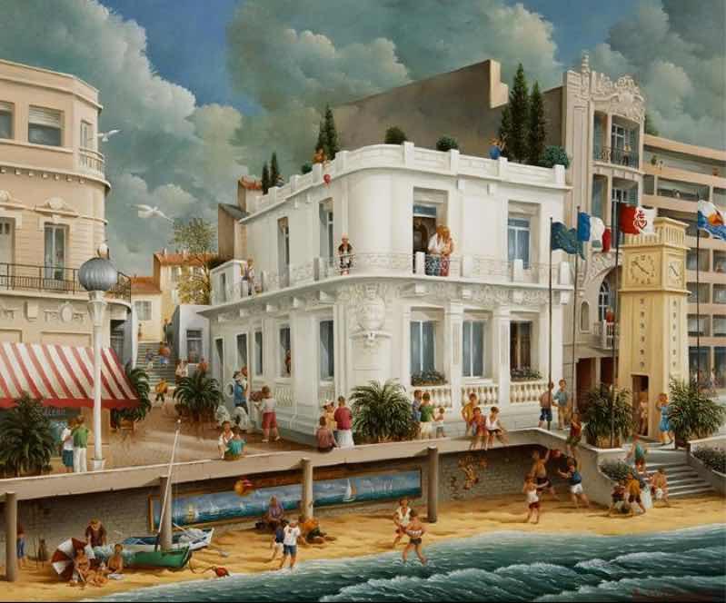 (851)- La Villa blanche-les Sables d'Olonne-2009-hsb 38x46 cm.