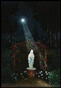 (866)-Impression nocture sur la Vierge des Landes-2012-35x24 cm.