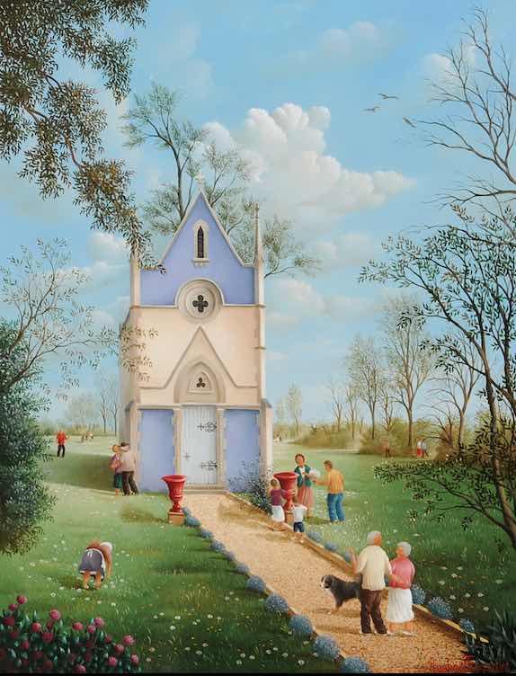 (883)-La Chapelle du Château de la Richerie. H.S.B. - 35 x 27 cm