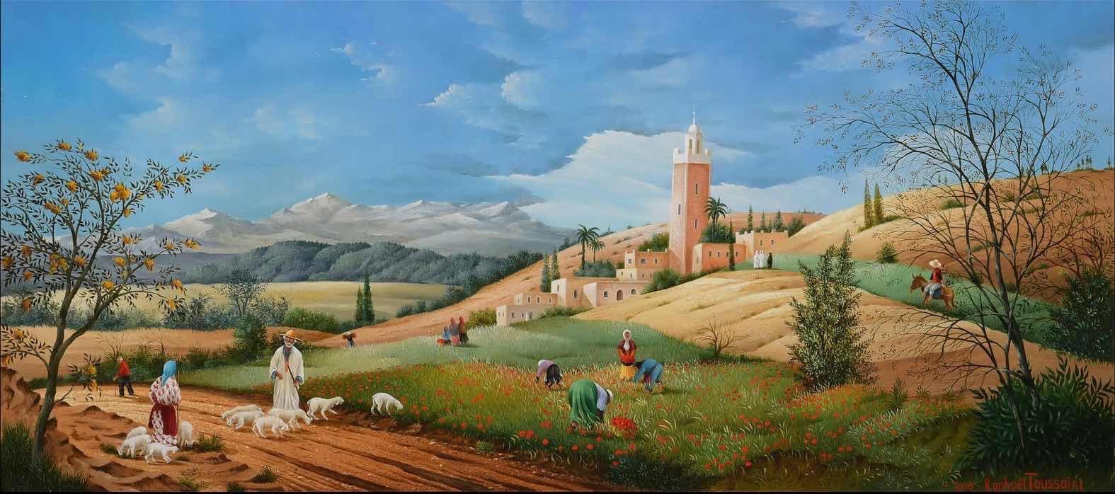(895)-Le champs de coquelicots – Marrakech – Maroc